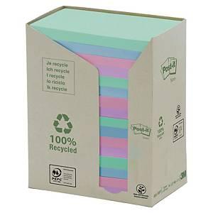 Foglietti Post-it® carta riciclata 16 blocchetti 76x127mm colori pastello