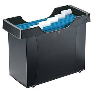 Leitz Plus suspension files box for A4 suspension files black