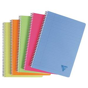 CLAIREFONTAINE สมุดบันทึกริมลวด LINICOLOUROR A4 90แกรม ปกคละสี บรรจุ 90แผ่น