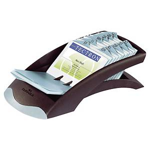 Porta-cartões Durable Desk - 131 x 245 mm - preto
