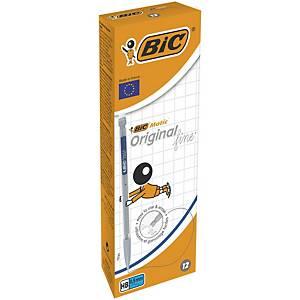 Pack de 12 portaminas con goma Bic Matic Original  - Ø 0,5 mm
