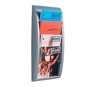 Paperflow 4061.35 wall display rack A4 aluminium