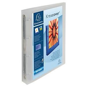 Prezentační 4-kroužkový pořadač Krea Cover® 40 mm, kroužek  O - 30 mm, průhledný