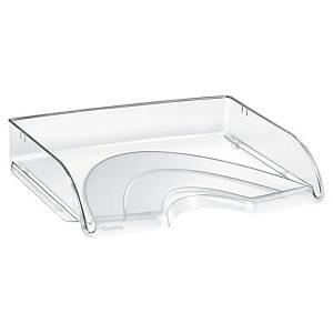 Briefkorb Lyreco Style, stapelbar, Maße: 345 x 260 x 64mm, A4 quer, kristallklar