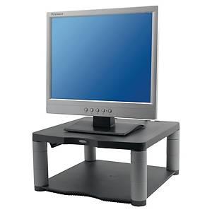 Support pour écran Fellowes Premium, réglable en hauteur, gestion câbles, gris