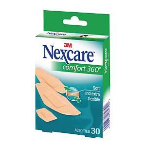 Pansements confortables Nexcare™ UltraStretch, 3 formats, boîte de 30 pansements