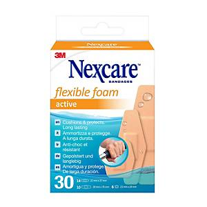 Nexcare Comfort 360° adhesive plaster, assorted, package of 30 pcs