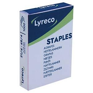Agrafes Lyreco 21/4, galvanisées, 12 feuilles, les 2.000 agrafes