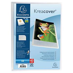 KREA COVER 5728 DISPLAY BOOK 20 POCKET CLEAR