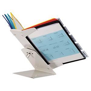 Durable 5579 Vario Pro display system desk unit/wall unit 10 pockets in PP grey