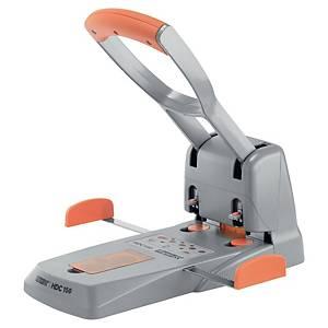 Locher Rapid HDC150, Registraturlocher, 150 Blatt, silber/orange