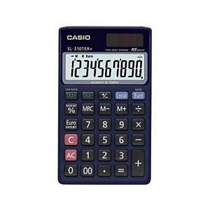CASIO SL-310TER pocket calculator blue - 10 numbers