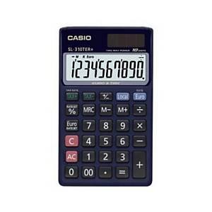 Calculatrice de poche Casio SL-310TER+ - 10 chiffres - bleu nuit
