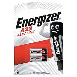 Batterier Energizer Alkaline A23, 12 V, förp. med 2 st.