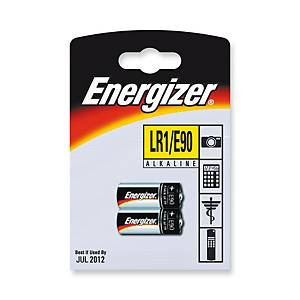 Energizer LR1/E90 alkaline batteries - pack of 2