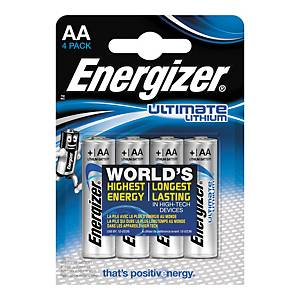 Pack de 4 pilhas Energizer Ultimate Lithium AA/LR06