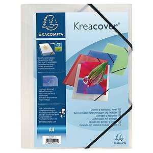 Strikkmappe Exacompta Kreacover, A4, transparent