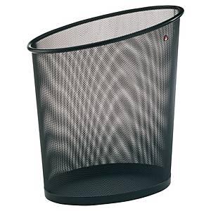 Poubelle Alba Mesh en métal, 18 l, forme d'ellipse, noire