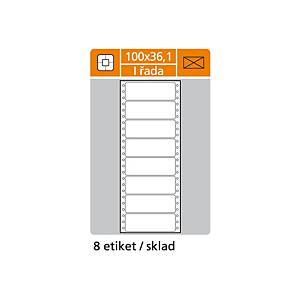 S&K Label 1-soros mátrixnyomtató etikettek, 100 x 36,1 mm, 4000 etikett/csomag