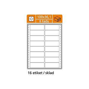 Tabelačné etikety S&K Label, 2-radové, 100 x 36,1 mm, 8000 ks/bal