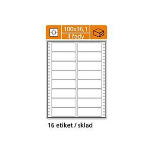 Tabelační etikety S&K Label, 2-řadové, bílé, 400 kusů