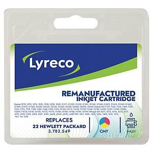 Cartucho de tinta Lyreco HP 22 compatible - DJ3920 - 3 colores