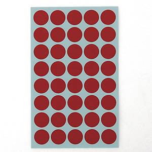 예현 좋은라벨 견출지 3001 컬러 분류용 Ø16 빨강 7매