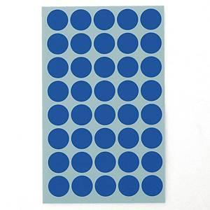 예현 좋은라벨 견출지 3001 컬러 분류용 Ø16 파랑 7매