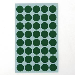 예현 좋은라벨 견출지 3001 컬러 분류용 Ø16 초록 7매