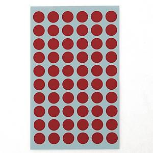 예현 좋은라벨 견출지 3002 컬러 분류용 Ø12 빨강 7매