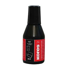KORES 71338 Stempelfarbe 28 ml schwarz