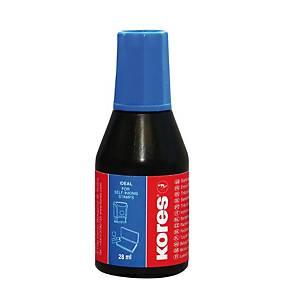 KORES 71308 pečiatková farba, 28 ml, modrá