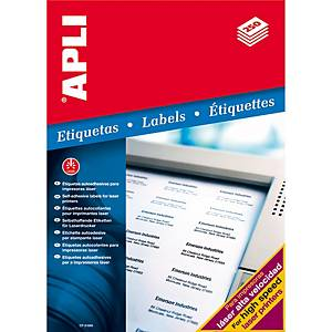 Caixa 500 etiquetas autocolantes Apli 2529 - 210 x 148 mm - branco