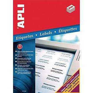 Caixa 250 etiquetas autocolantes Apli 2530 - 210x297 mm - branco