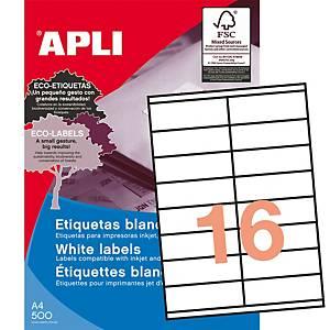 Caixa 1600 etiquetas autocolantes Apli 1287 - 105 x 35 mm - branco
