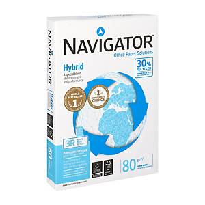 Navigator Hybrid papier recyclé A4 80g - 1 boite = 5 ramettes de 500 feuilles