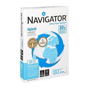 Navigator Hybrid gerecycleerd wit A4 papier, 80 g, per doos van 5 x 500 vellen