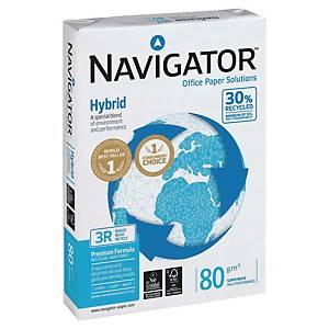 Kopierpapier Navigator Hybrid A3, 80g/m2, 30% Recycling,weiss, Pack à 500 Blatt