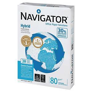 Papier A3 blanc recyclé Navigator Hybrid, 80 g, la boîte de 5 x 500 feuilles