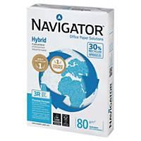 Navigator Hybrid gerecycleerd wit A3 papier, 80 g, per doos van 5 x 500 vellen