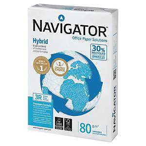 Papier Navigator Hybrid, A3 80 g/m² - recyklovaný biely