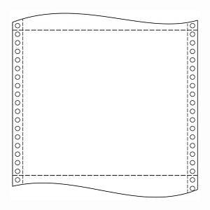 Papír tűs nyomtatókba, 60 g/m², 1 + 0 réteg, 390 mm x 12 , 2 000 ív/karton