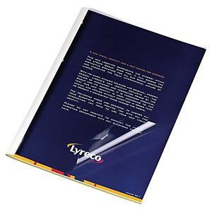 Pavo liimasidontakansi A4 1,5mm kirkas/valkoinen, 1 kpl=100 kantta
