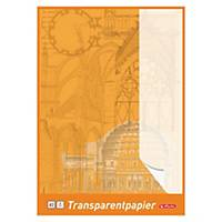 Herlitz Transparentzeichenpapier, A3, 65 g/m², weiß, 25 Blatt/Packung