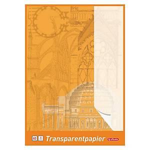 Herlitz Transparentzeichenpapier, A3, 65 g/m², weiss, 25 Blatt