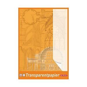 Herlitz Transparentzeichenpapier, A4, 65 g/m², weiss, 30 Blatt