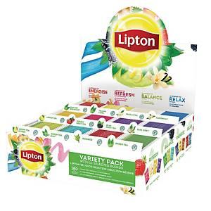 Te Lipton display med 180 tebreve, i 12 varianter
