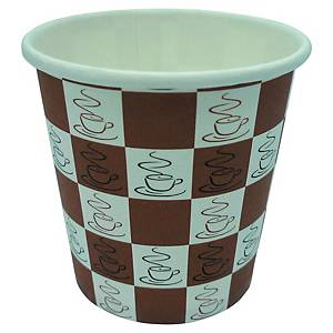 Quick Cups Brown Paper Coffee Cup 120ml - Pack of 80