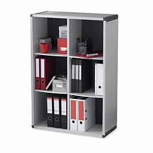 Étagère de bureau Paperflow, 6 compartiments, gris/gris