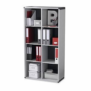 Étagère de bureau Paperflow, 8 compartiments, gris/gris